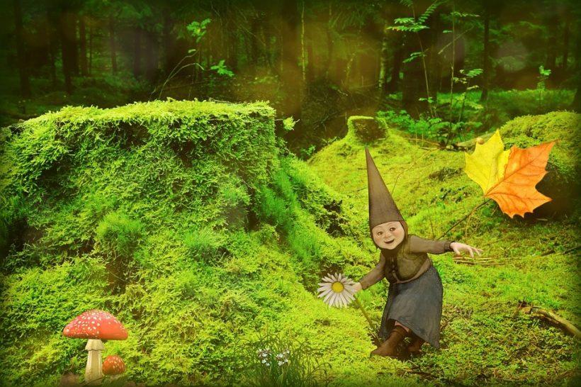 Eventyrfortelling i skog for barn